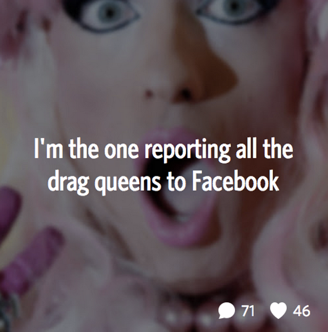 someone is targeting drag performers on Facebook